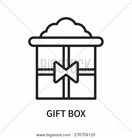 Gift Box Icon Isolated On White Background. Gift Box Icon Simple Sign. Gift Box Icon Trendy And Mode