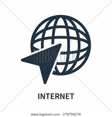 Internet Icon Isolated On White Background. Internet Icon Simple Sign. Internet Icon Trendy And Mode
