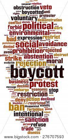 Boycott Word Cloud Concept. Vector Illustration  On White