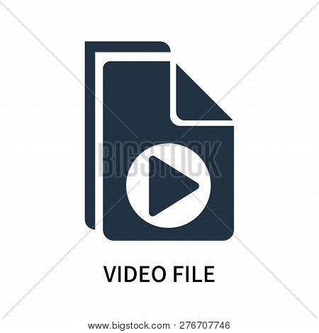 Video File Icon Isolated On White Background. Video File Icon Simple Sign. Video File Icon Trendy An
