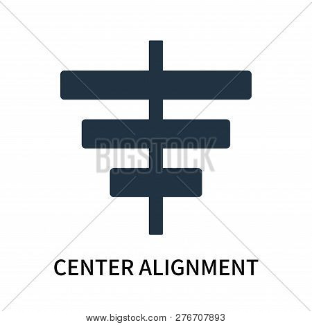 Center Alignment Icon Isolated On White Background. Center Alignment Icon Simple Sign. Center Alignm