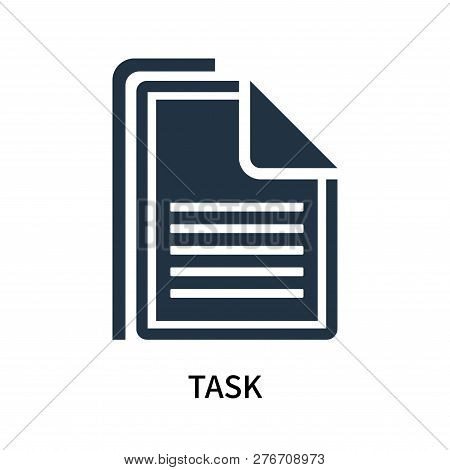 Task Icon Isolated On White Background. Task Icon Simple Sign. Task Icon Trendy And Modern Symbol Fo