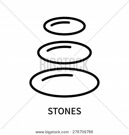 Stones Icon Isolated On White Background. Stones Icon Simple Sign. Stones Icon Trendy And Modern Sym
