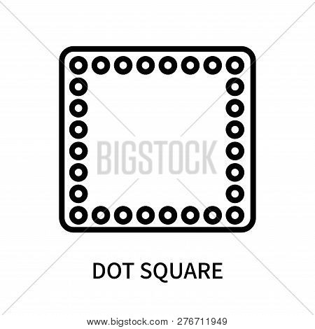 Dot Square Icon Isolated On White Background. Dot Square Icon Simple Sign. Dot Square Icon Trendy An