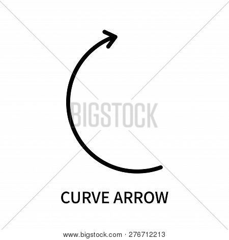 Curve Arrow Icon Isolated On White Background. Curve Arrow Icon Simple Sign. Curve Arrow Icon Trendy