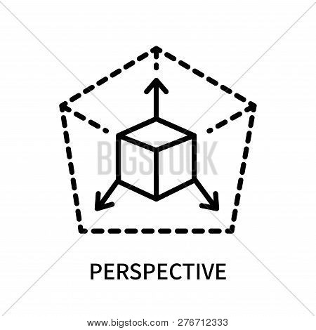 Perspective Icon Isolated On White Background. Perspective Icon Simple Sign. Perspective Icon Trendy