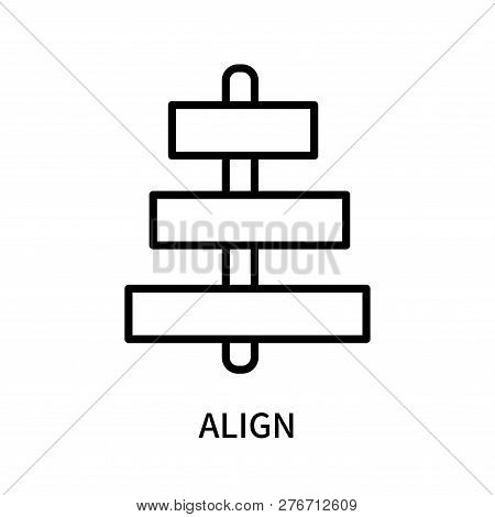 Align Icon Isolated On White Background. Align Icon Simple Sign. Align Icon Trendy And Modern Symbol