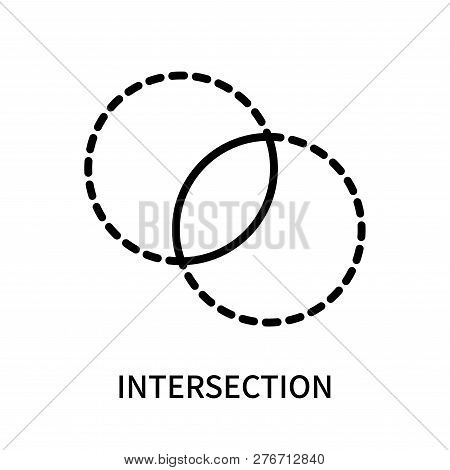 Intersection Icon Isolated On White Background. Intersection Icon Simple Sign. Intersection Icon Tre