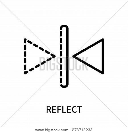 Reflect Icon Isolated On White Background. Reflect Icon Simple Sign. Reflect Icon Trendy And Modern