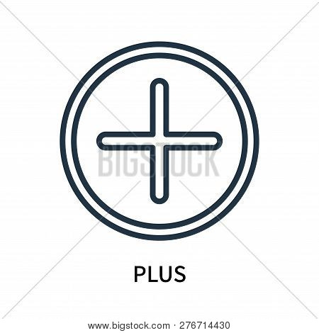 Plus Icon Isolated On White Background. Plus Icon Simple Sign. Plus Icon Trendy And Modern Symbol Fo