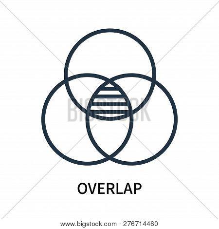 Overlap Icon Isolated On White Background. Overlap Icon Simple Sign. Overlap Icon Trendy And Modern