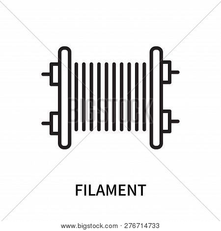 Filament Icon Isolated On White Background. Filament Icon Simple Sign. Filament Icon Trendy And Mode