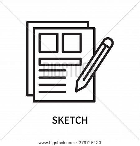 Sketch Icon Isolated On White Background. Sketch Icon Simple Sign. Sketch Icon Trendy And Modern Sym