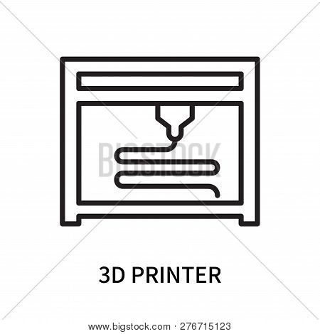 3d Printer Icon Isolated On White Background. 3d Printer Icon Simple Sign. 3d Printer Icon Trendy An