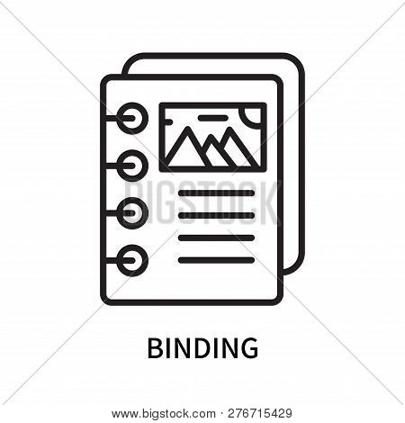 Binding Icon Isolated On White Background. Binding Icon Simple Sign. Binding Icon Trendy And Modern