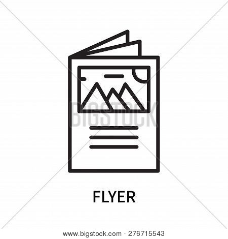 Flyer Icon Isolated On White Background. Flyer Icon Simple Sign. Flyer Icon Trendy And Modern Symbol