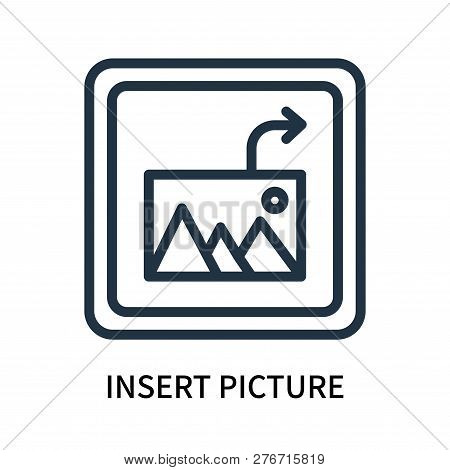 Insert Picture Icon Isolated On White Background. Insert Picture Icon Simple Sign. Insert Picture Ic