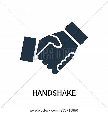 Handshake Icon Isolated On White Background. Handshake Icon Simple Sign. Handshake Icon Trendy And M