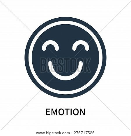 Emotion Icon Isolated On White Background. Emotion Icon Simple Sign. Emotion Icon Trendy And Modern
