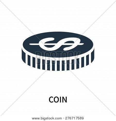 Coin Icon Isolated On White Background. Coin Icon Simple Sign. Coin Icon Trendy And Modern Symbol Fo
