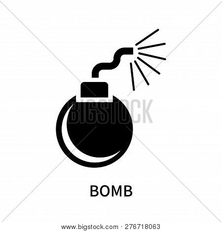 Bomb Icon Isolated On White Background. Bomb Icon Simple Sign. Bomb Icon Trendy And Modern Symbol Fo