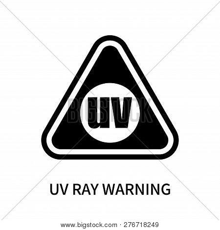 Uv Ray Warning Icon Isolated On White Background. Uv Ray Warning Icon Simple Sign. Uv Ray Warning Ic