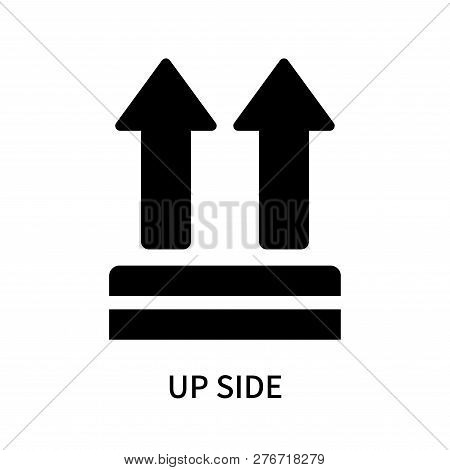Up Side Icon Isolated On White Background. Up Side Icon Simple Sign. Up Side Icon Trendy And Modern