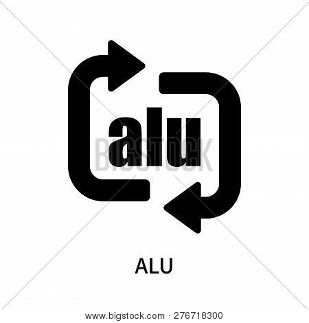 Alu Icon Isolated On White Background. Alu Icon Simple Sign. Alu Icon Trendy And Modern Symbol For G