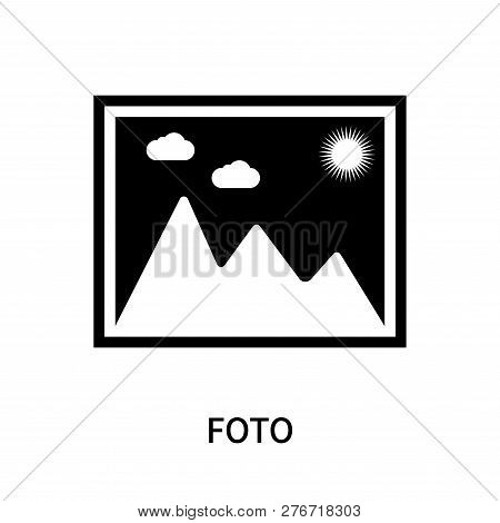 Foto Icon Isolated On White Background. Foto Icon Simple Sign. Foto Icon Trendy And Modern Symbol Fo
