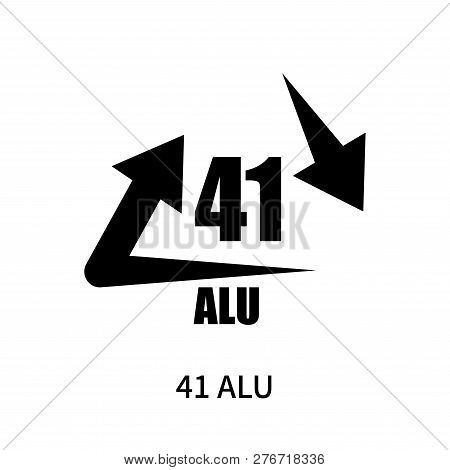 41 Alu Icon Isolated On White Background. 41 Alu Icon Simple Sign. 41 Alu Icon Trendy And Modern Sym