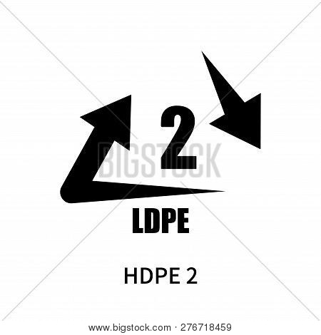 Hdpe 2 Icon Isolated On White Background. Hdpe 2 Icon Simple Sign. Hdpe 2 Icon Trendy And Modern Sym