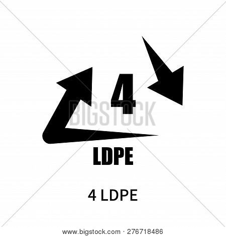 4 Ldpe Icon Isolated On White Background. 4 Ldpe Icon Simple Sign. 4 Ldpe Icon Trendy And Modern Sym