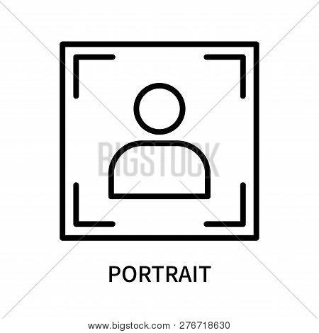 Portrait Icon Isolated On White Background. Portrait Icon Simple Sign. Portrait Icon Trendy And Mode