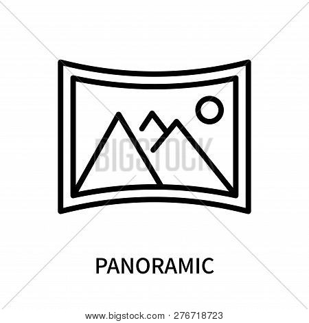 Panoramic Icon Isolated On White Background. Panoramic Icon Simple Sign. Panoramic Icon Trendy And M