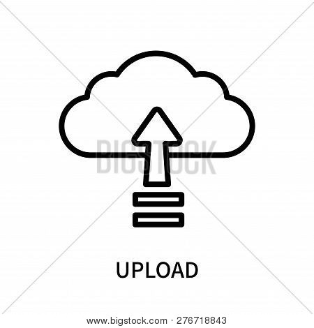 Upload Icon Isolated On White Background. Upload Icon Simple Sign. Upload Icon Trendy And Modern Sym