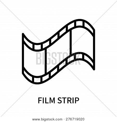 Film Strip Icon Isolated On White Background. Film Strip Icon Simple Sign. Film Strip Icon Trendy An