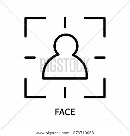 Face Icon Isolated On White Background. Face Icon Simple Sign. Face Icon Trendy And Modern Symbol Fo