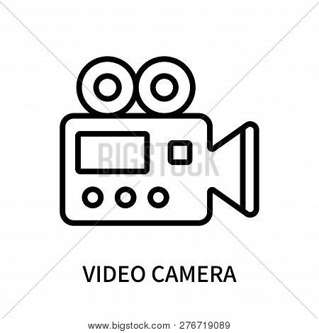 Video Camera Icon Isolated On White Background. Video Camera Icon Simple Sign. Video Camera Icon Tre