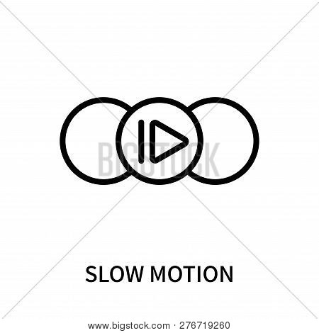 Slow Motion Icon Isolated On White Background. Slow Motion Icon Simple Sign. Slow Motion Icon Trendy