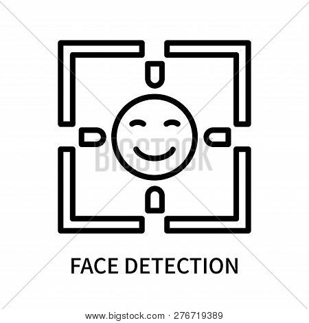Face Detection Icon Isolated On White Background. Face Detection Icon Simple Sign. Face Detection Ic