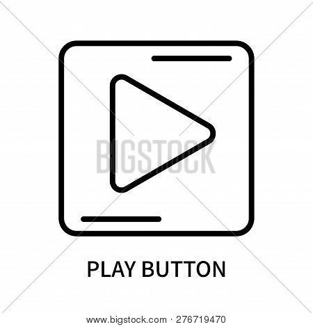 Play Button Icon Isolated On White Background. Play Button Icon Simple Sign. Play Button Icon Trendy