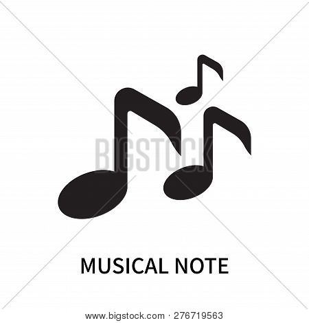 Musical Note Icon Isolated On White Background. Musical Note Icon Simple Sign. Musical Note Icon Tre