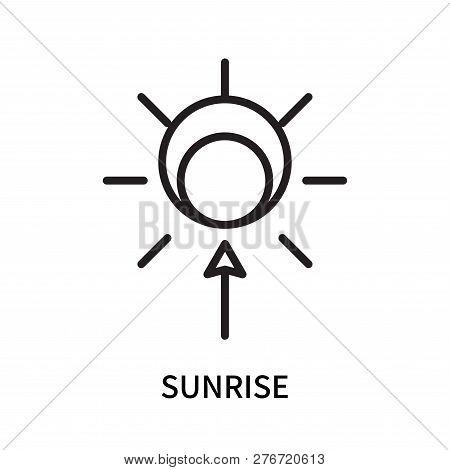 Sunrise Icon Isolated On White Background. Sunrise Icon Simple Sign. Sunrise Icon Trendy And Modern