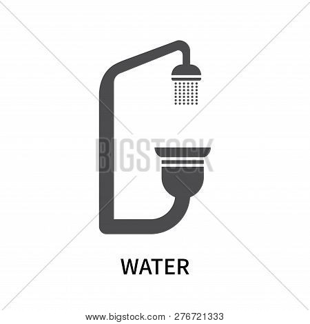 Water Icon Isolated On White Background. Water Icon Simple Sign. Water Icon Trendy And Modern Symbol