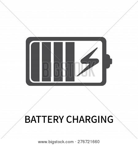 Battery Charging Icon Isolated On White Background. Battery Charging Icon Simple Sign. Battery Charg