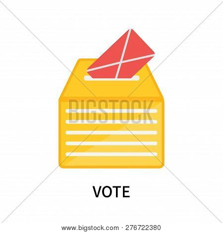 Vote Icon Isolated On White Background. Vote Icon Simple Sign. Vote Icon Trendy And Modern Symbol Fo