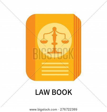 Law Book Icon Isolated On White Background. Law Book Icon Simple Sign. Law Book Icon Trendy And Mode