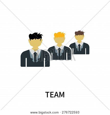 Team Icon Isolated On White Background. Team Icon Simple Sign. Team Icon Trendy And Modern Symbol Fo