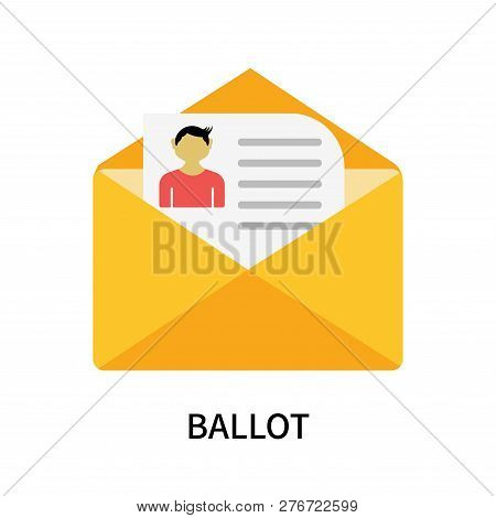 Ballot Icon Isolated On White Background. Ballot Icon Simple Sign. Ballot Icon Trendy And Modern Sym