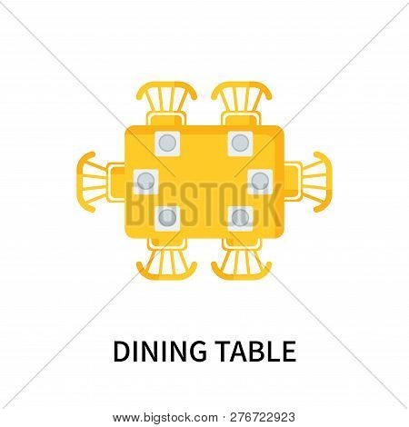 Dining Table Icon Isolated On White Background. Dining Table Icon Simple Sign. Dining Table Icon Tre